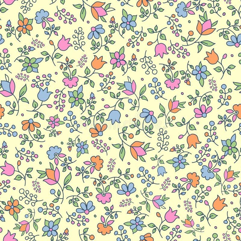 Download Multicoloured Floral Seamless Pattern Stock Vector - Illustration of element, leaf: 22484051