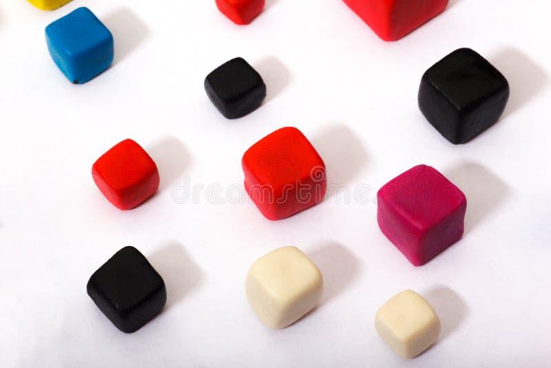 Multicoloured kubussen isometrisch royalty-vrije stock foto's