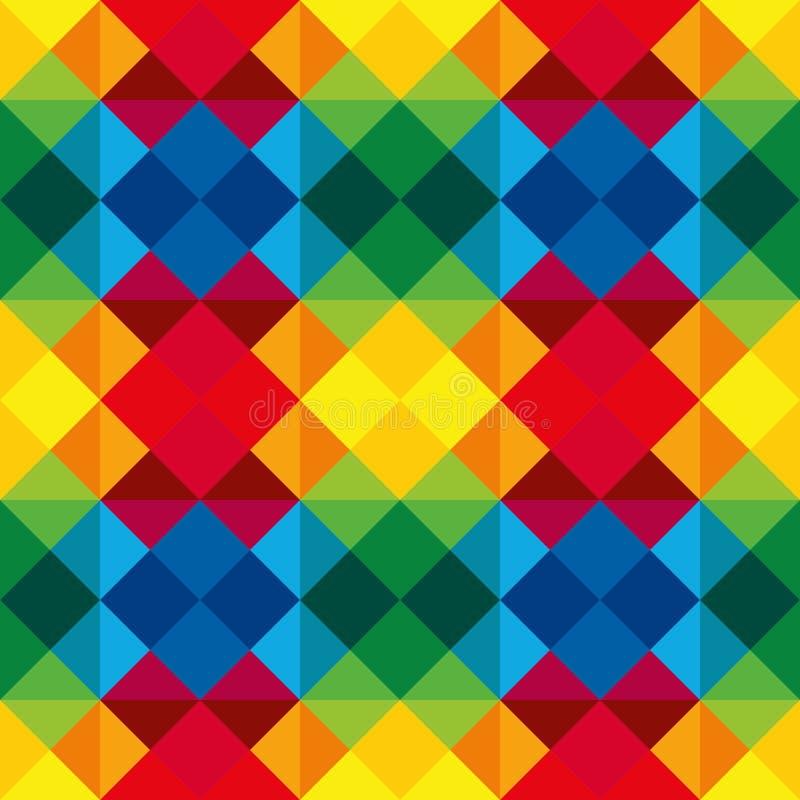 Multicoloured Naadloos geometrisch patroon, royalty-vrije illustratie