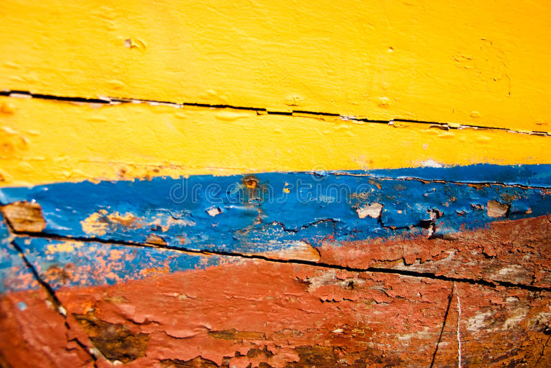 Download Multicoloured painted wood stock image. Image of grunge - 14476005