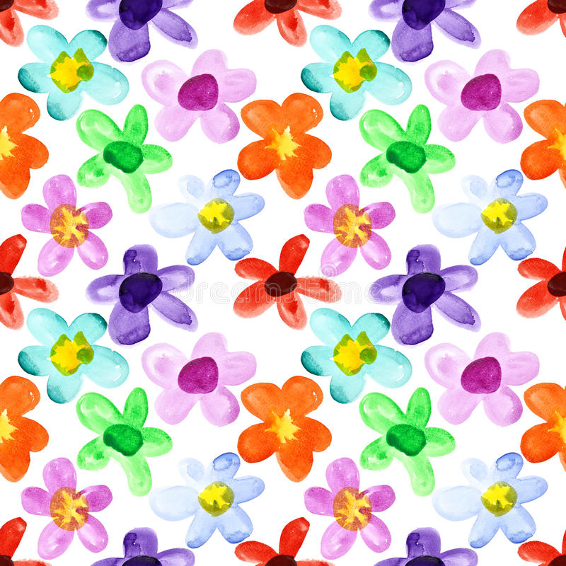 Free Multicoloured Seamless Floral Pattern Royalty Free Stock Image - 62089936