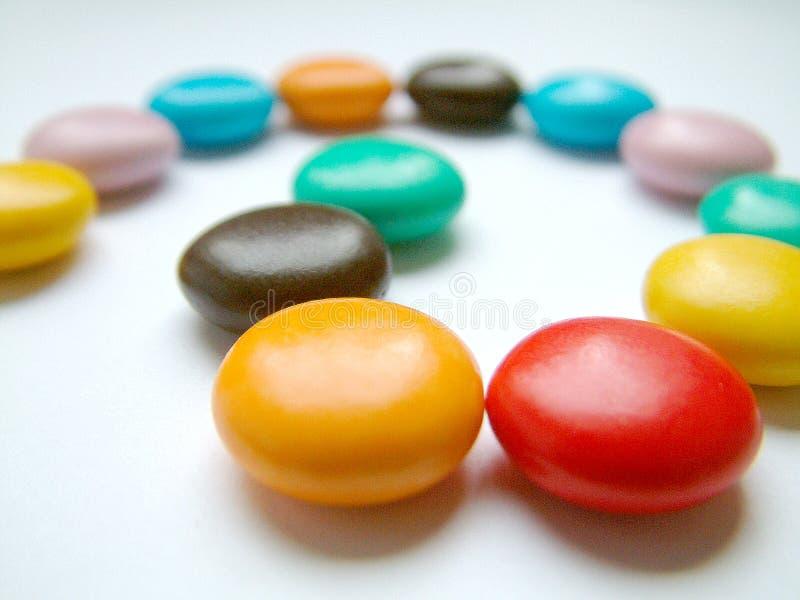 Multicoloured snoepjes royalty-vrije stock afbeelding