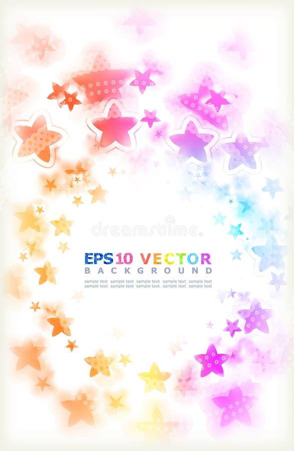 Multicoloured stars.