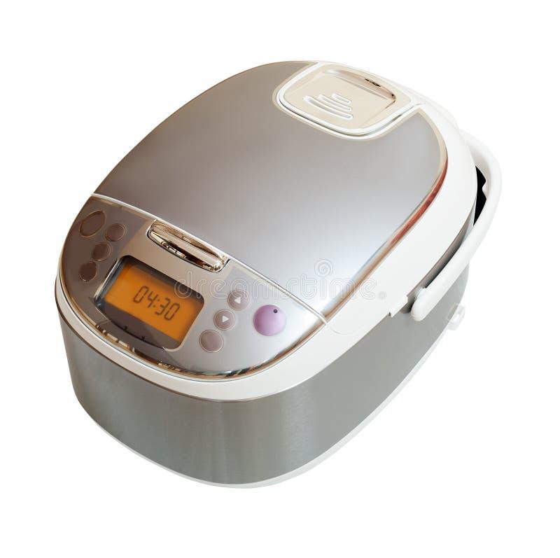 Multicooker над белой предпосылкой стоковое изображение