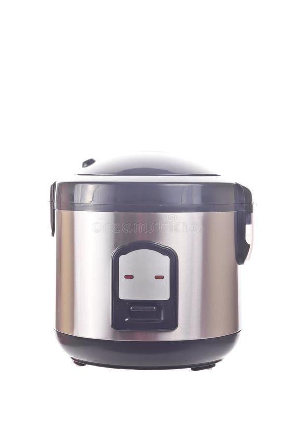 Multicooker novo isolado no branco fotografia de stock