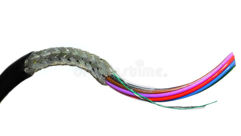 Multicore Braided Cable...x stock photography