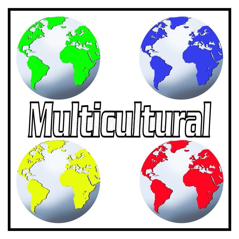 Multicultural ilustração do vetor