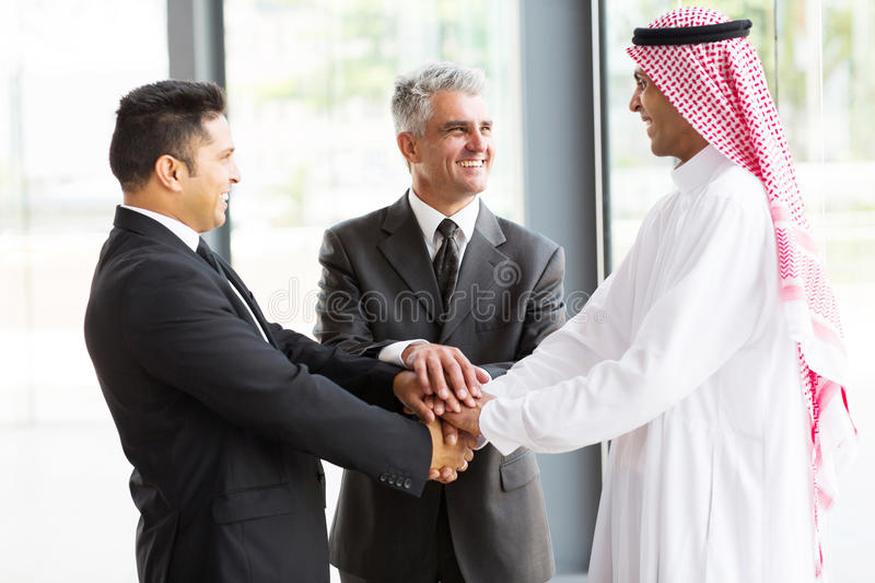 Multicultural business partners stock photo