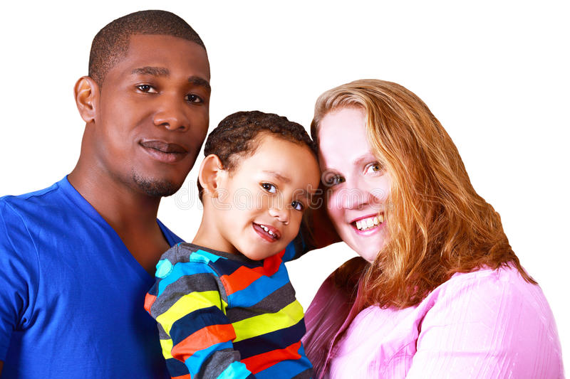 Multicultural family royalty free stock image
