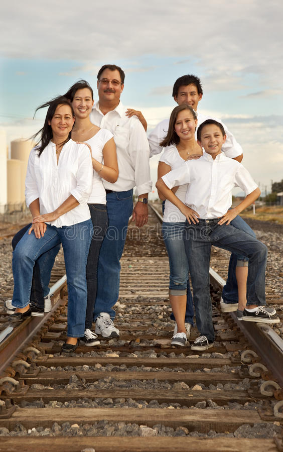 Multicultural Family Portrait royalty free stock images