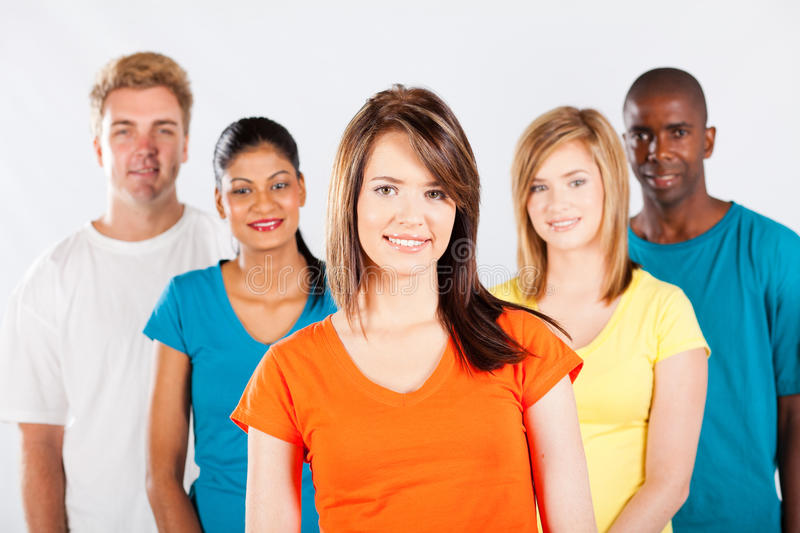 Multicultural people group royalty free stock photo