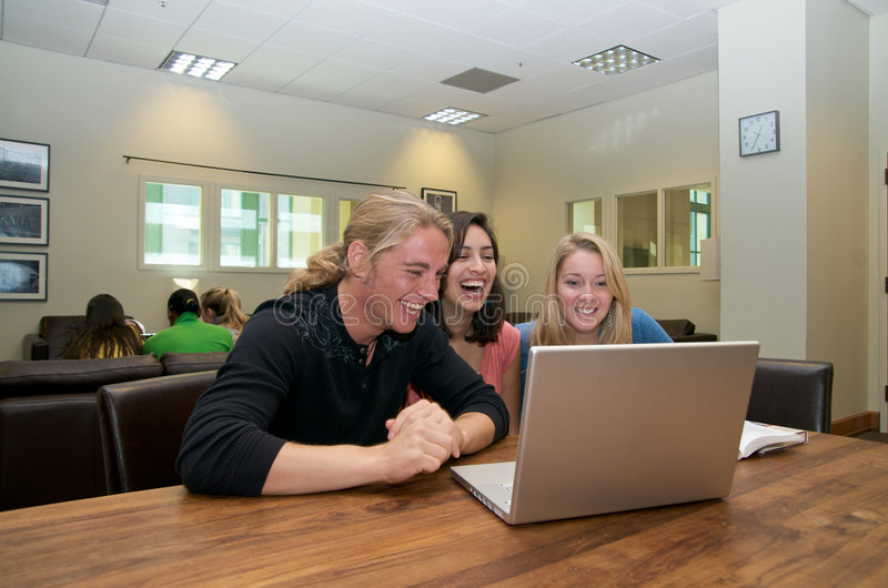 Download Multicultural Students In Student Lounge Stock Photo - Image: 7379626
