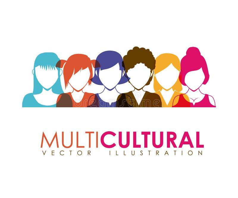 multicultureel vector illustratie