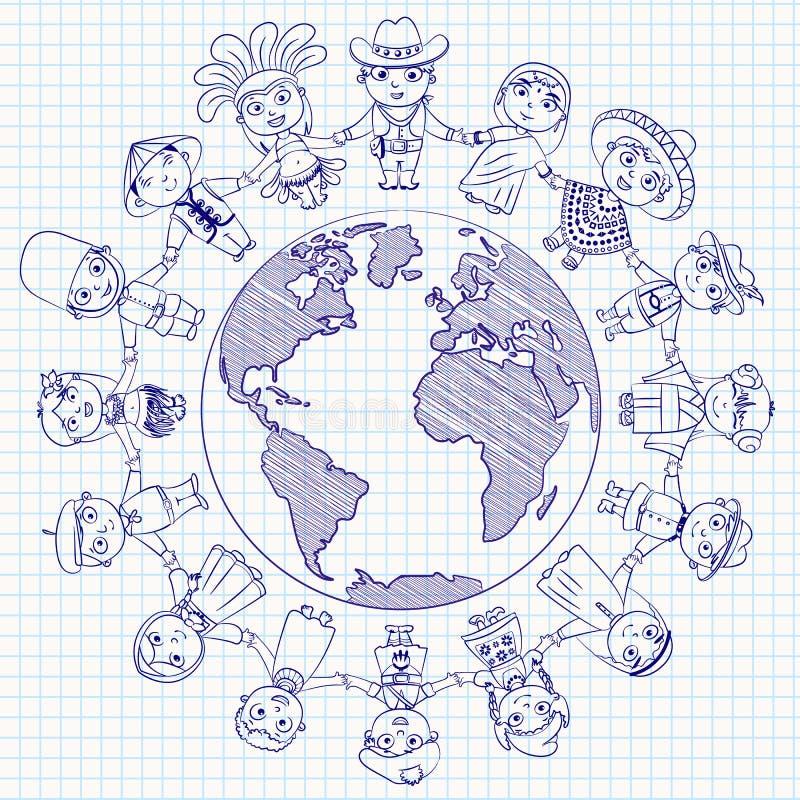 Multicultureel karakter vector illustratie