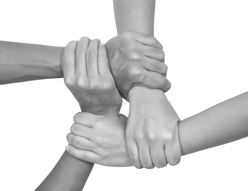Multiculturele handen (reeks) royalty-vrije stock afbeeldingen