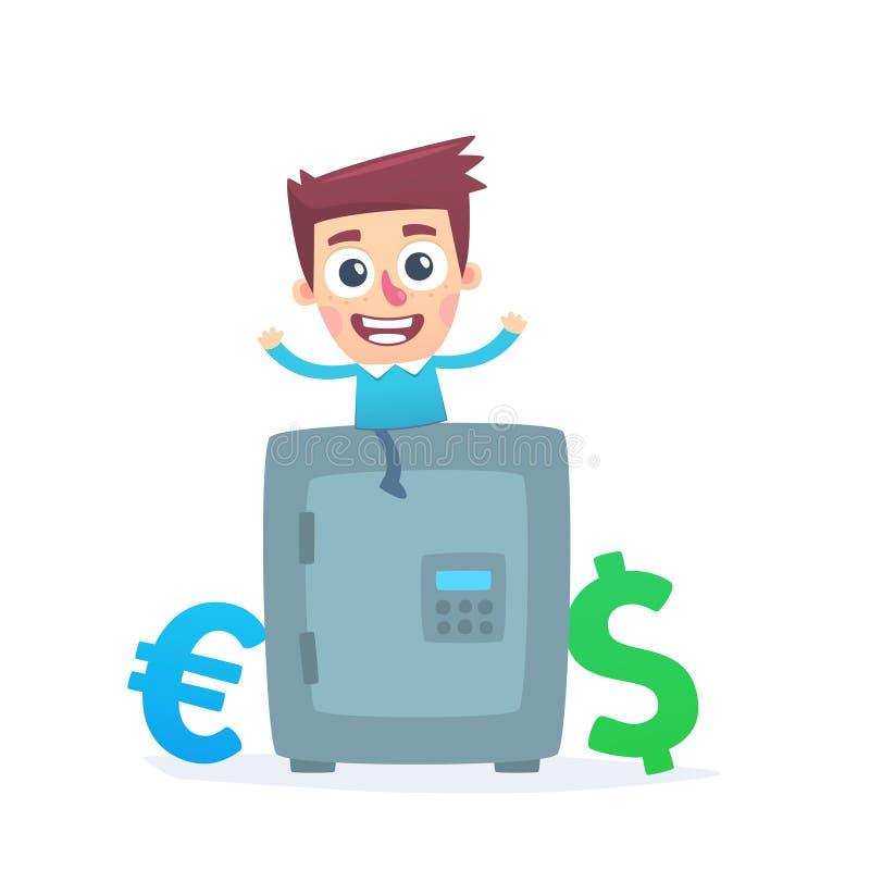 Multicurrencyspaarbank vector illustratie