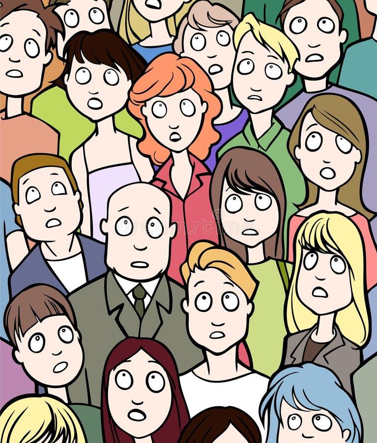 Multidão ilustração do vetor
