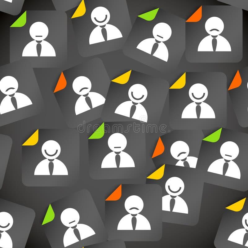 Multidão abstrata de ícones sociais do cliente dos media ilustração royalty free