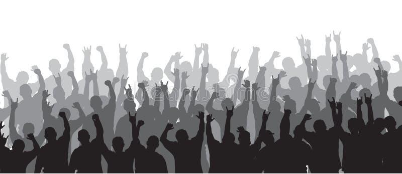Multidão Cheering 20 imagens de stock