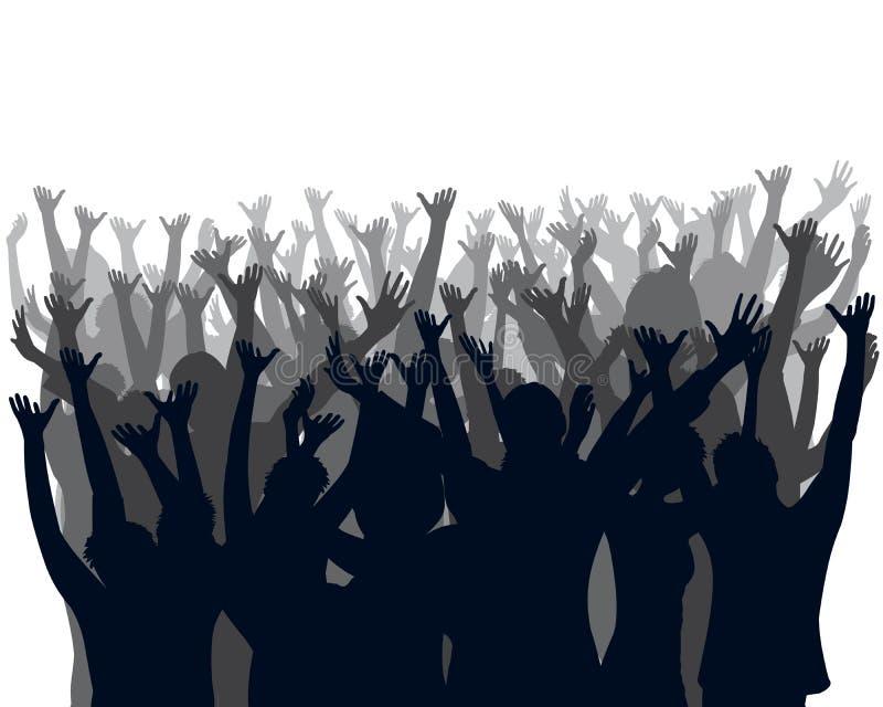 Multidão Cheering ilustração do vetor
