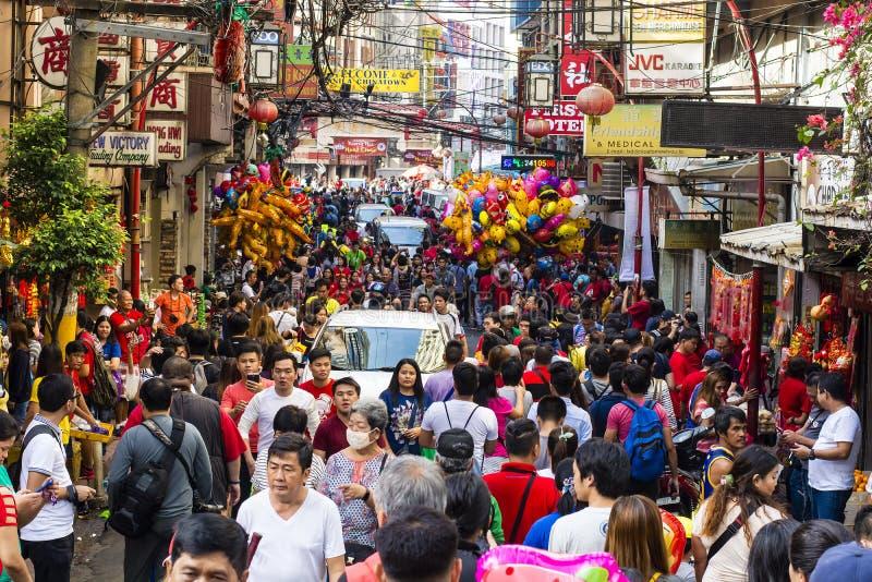 Multidão chinesa do ano novo imagem de stock royalty free
