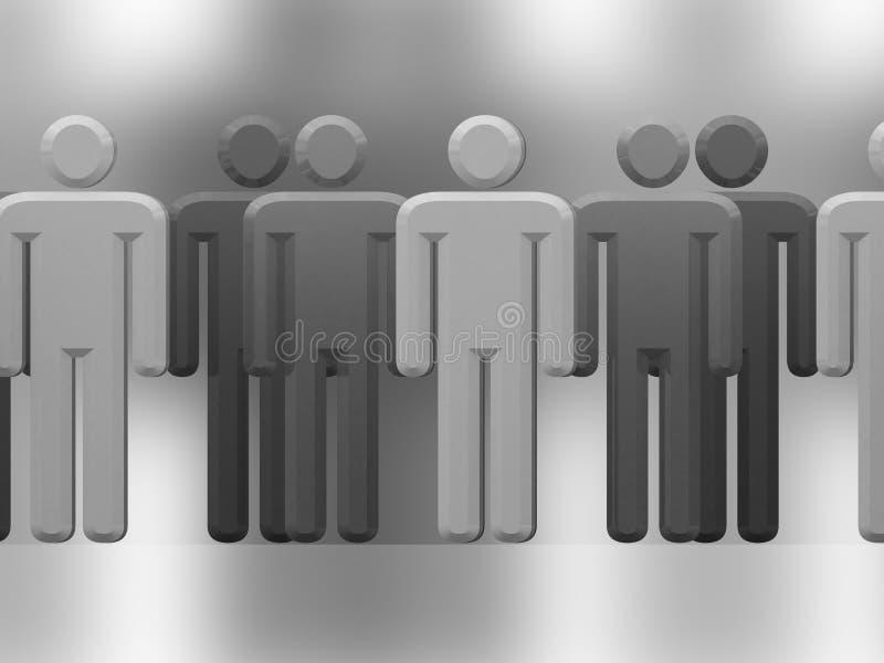 Multidão cinzenta ilustração royalty free