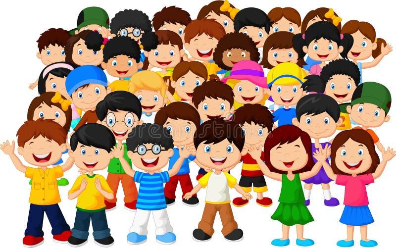Multidão de crianças ilustração royalty free