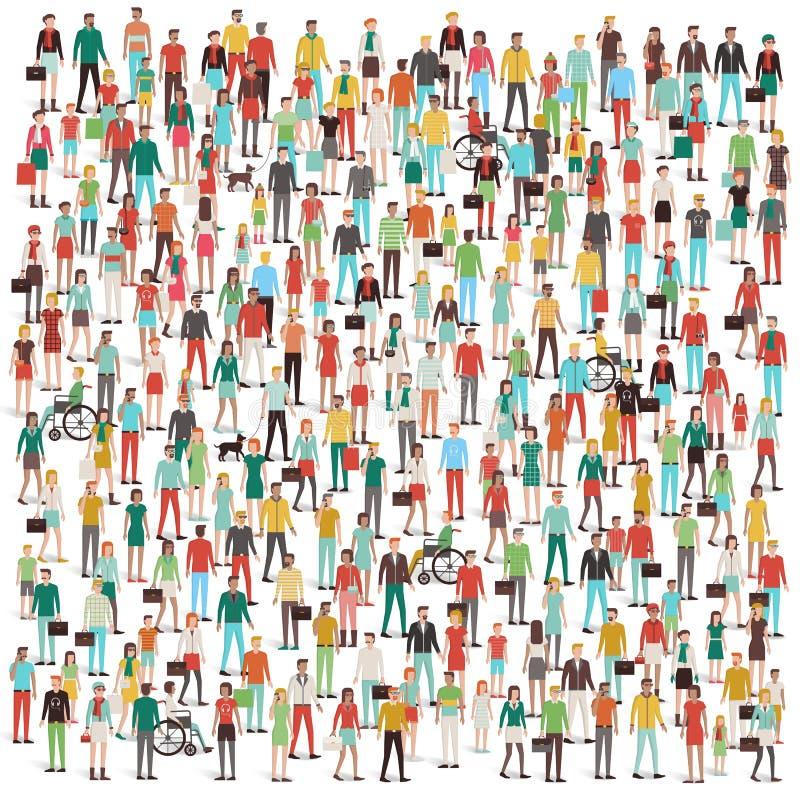 Multidão de povos ilustração stock