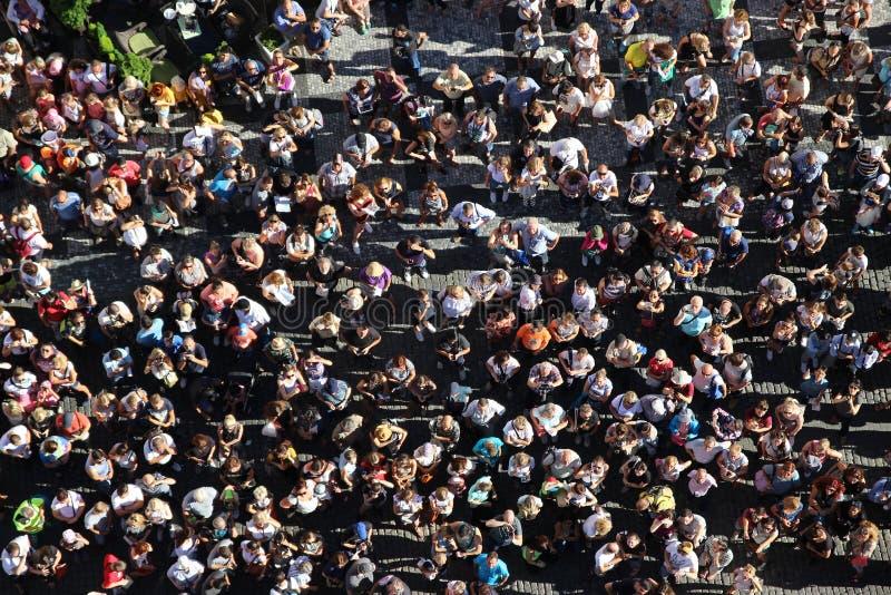 Multidão de povos fotografia de stock