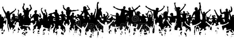Multidão de povos do divertimento no partido, feriado Povos alegres que têm a comemoração do divertimento ilustração royalty free