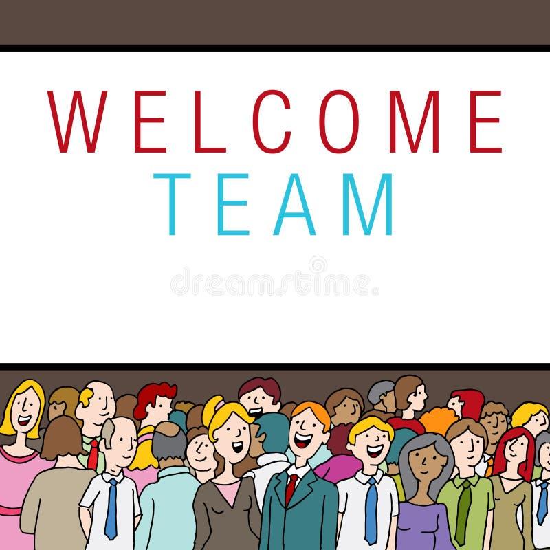 Multidão de povos na boa vinda Team State do evento da empresa ilustração do vetor