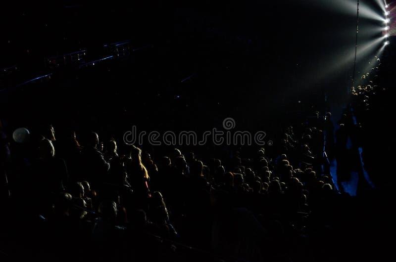 Multidão de povos no concerto imagem de stock
