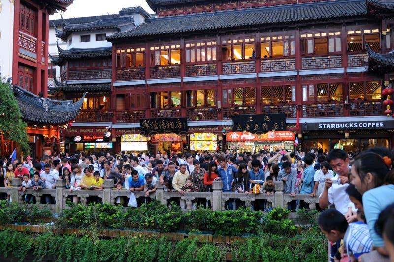 Multidão de Shanghai imagem de stock royalty free