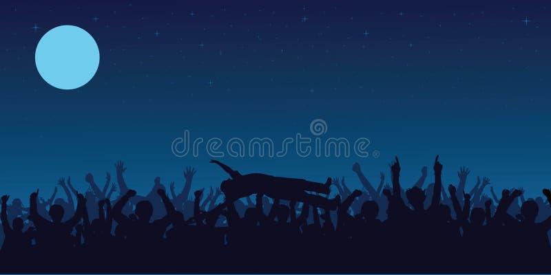 Multidão do concerto ilustração do vetor