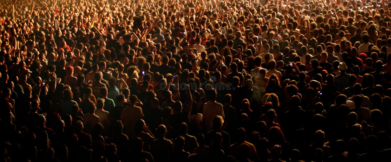 Multidão do concerto fotos de stock