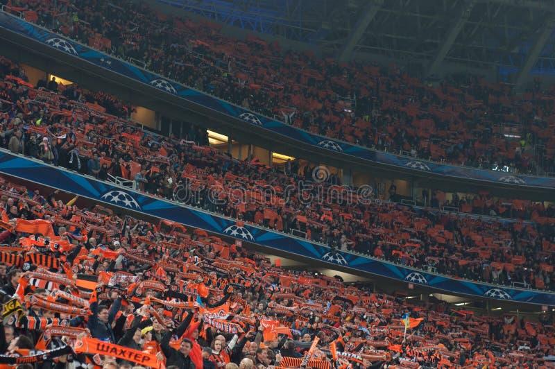 Multidão do estádio fotos de stock