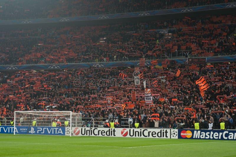 Multidão do estádio foto de stock royalty free