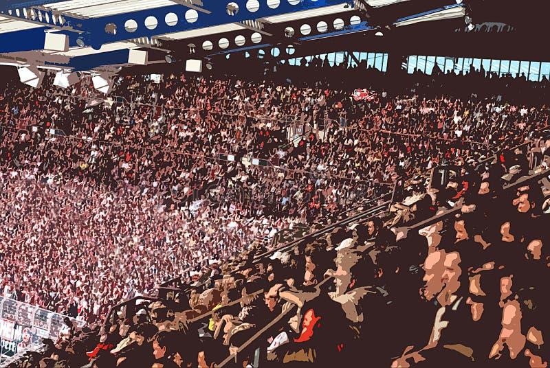 Multidão do estádio ilustração do vetor