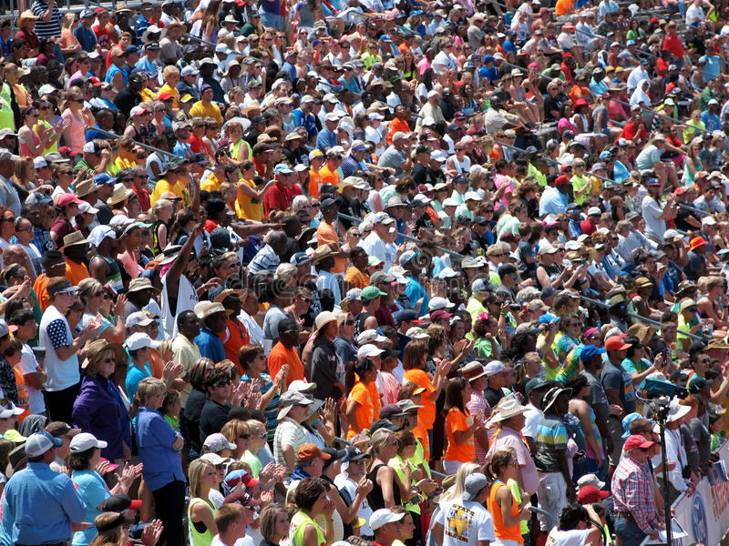 Multidão do evento desportivo imagem de stock