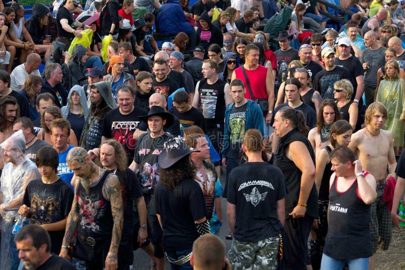 Multidão do festival fotos de stock
