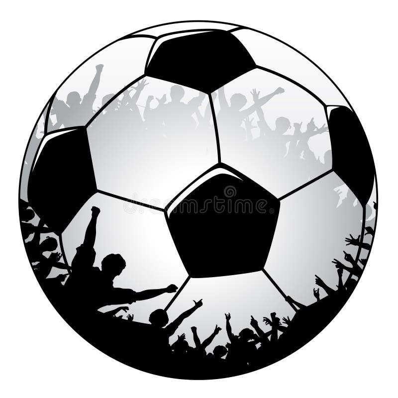 Multidão do futebol ilustração do vetor