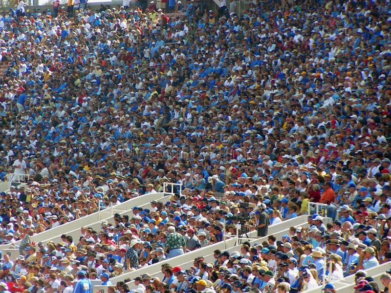 Multidão do futebol fotografia de stock