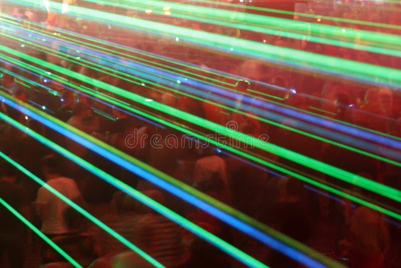 Multidão do laser fotografia de stock royalty free