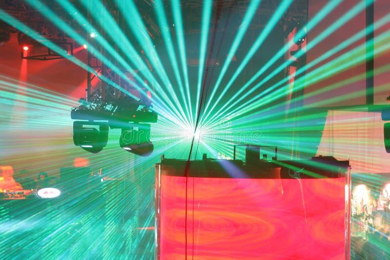 Multidão do laser imagens de stock royalty free