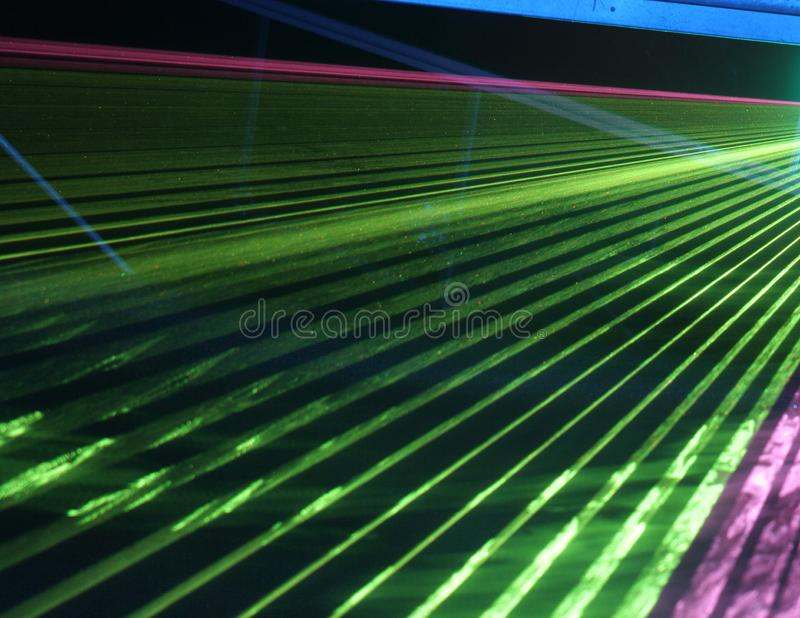Multidão do laser imagem de stock