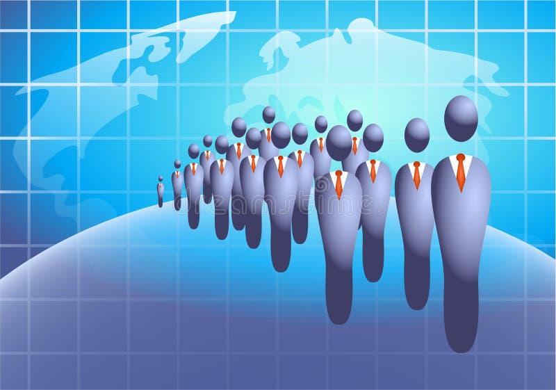 Multidão do negócio ilustração do vetor