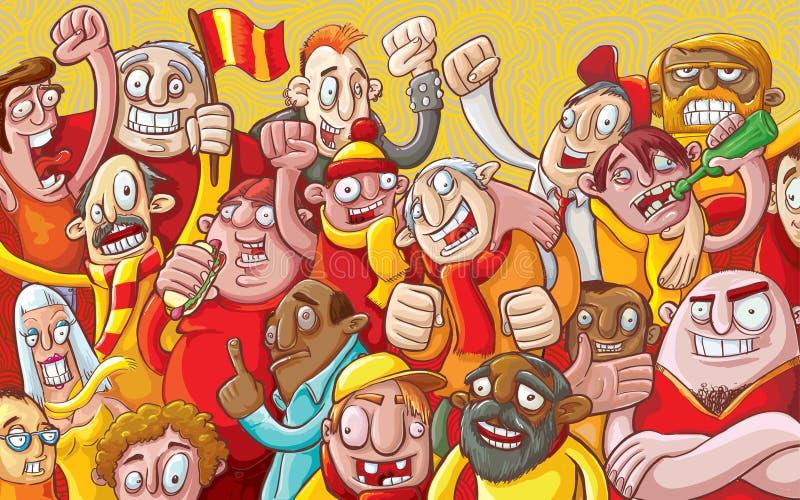 Multidão dos desenhos animados ilustração royalty free