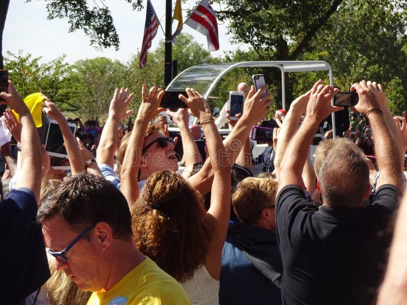 Multidão louca na avenida da constituição imagem de stock royalty free