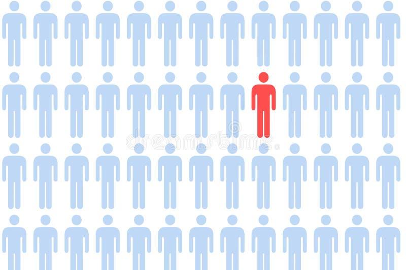 Multidão masculina do ícone ilustração royalty free