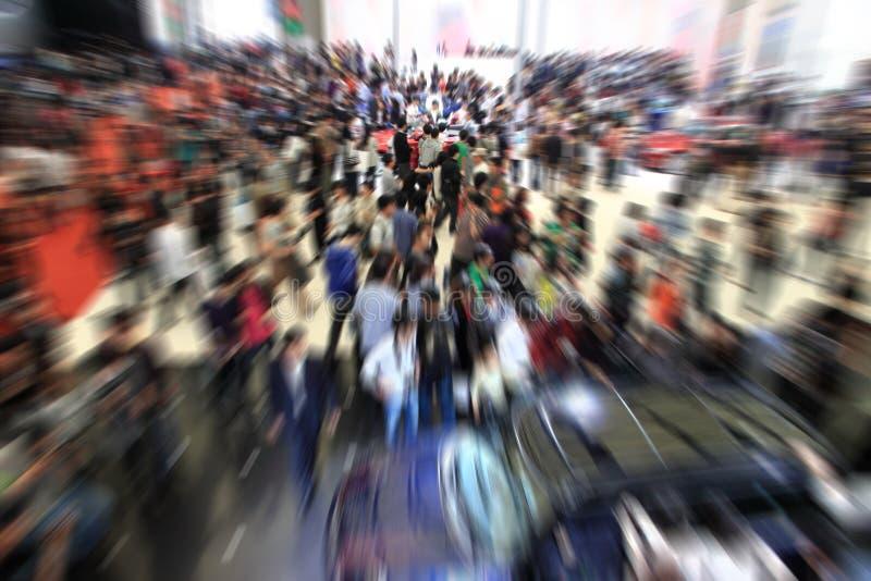 Multidão na exposição. foto de stock royalty free